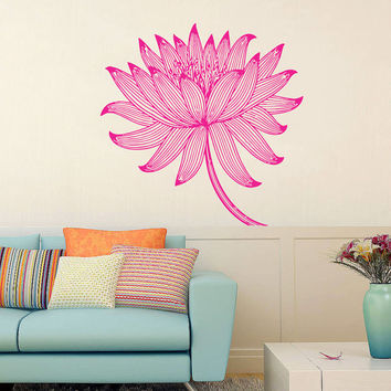 Wall Decal Vinyl Sticker Decals Art Home Decor Mural Mandala Floral Indidan Geometric Moroccan Pattern Yoga Namaste Flower Bedroom AN41