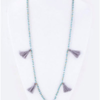 Tassel Necklace | Grey