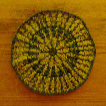 Crochet Jute Mandala Table Topper