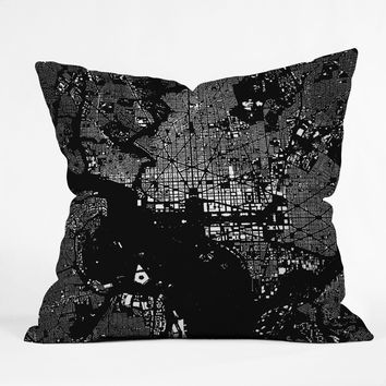 CityFabric Inc DC Black Throw Pillow