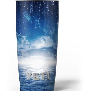 Vivid Blue Falling Stars in the Night Sky Yeti Rambler Skin Kit