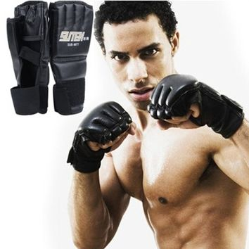 Sparring Grappling Boxing Fight Punch Ultimate Mitts Leather Gloves