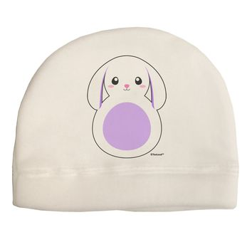 Cute Bunny with Floppy Ears - Purple Child Fleece Beanie Cap Hat by TooLoud