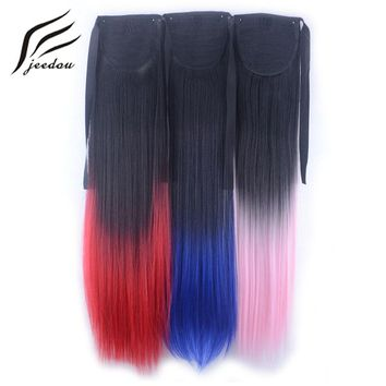 jeedou  Straight  Rainbow  Ombre  Color  inch  Ribbon