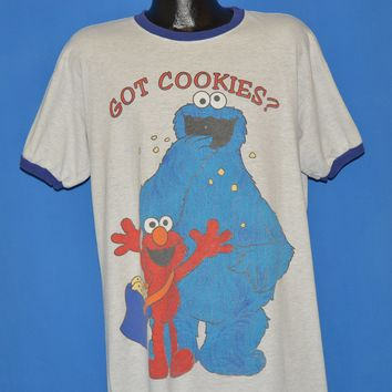 90s Sesame Street Cookie Monster And Elmo t-shirt Extra Large