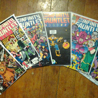 Infinity Gauntlet; V1, 1 through 6 (Full limited series).  NM+.  1991.  Marvel Comics