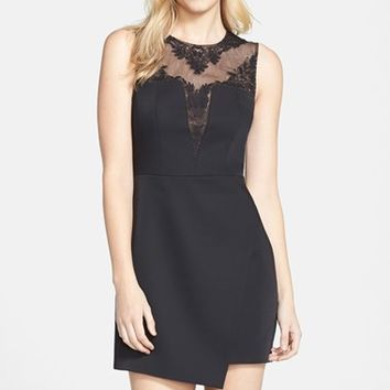 Women's BCBGMAXAZRIA 'Kinsley' Embroidered Yoke Layered Hem Dress,