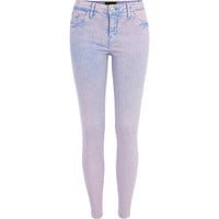 River Island Womens Purple acid wash Amelie superskinny jeans