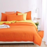 New Minimalist Pure Style Bedding Sets Bed Sheet and Duver Quilt Cover Pillowcase Soft and Comfortable King Queen Full Twin