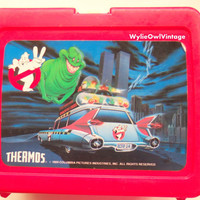 Vintage Ghostbuster Thermos Brand Lunchbox 1989