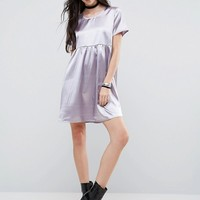 Glamorous Tall Pleated Satin Skater Dress at asos.com