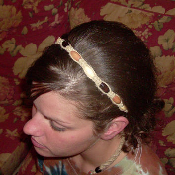 25% OFF - Item of The Week - Earthy Natural Hemp & Wood Headband