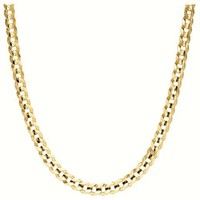 Men's 14k Yellow Gold 2.6mm Cuban Chain Necklace, 24""