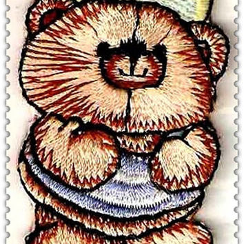Bear Kids Iron on Applique 419-H