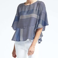 Stripe Flounce Top | Banana Republic