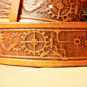 vintage belt, leather belt, handmade belt, vintage leather belt, mens belt, mens leather belt, jeans belt, tooled leather belt, tan belt