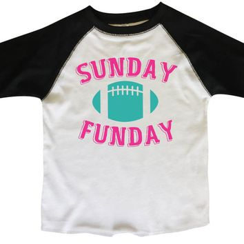 Sunday Funday BOYS OR GIRLS BASEBALL 3/4 SLEEVE RAGLAN - VERY SOFT TRENDY SHIRT B284