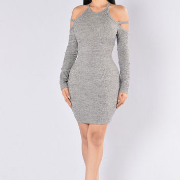 Quicksand Dress - Grey