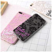 Victoria Lace Case For iPhone 7 7 Plus secret Letter case for iphone 6 6s 6plus 6s plus Soft TPU Matte cases phone Back Cover