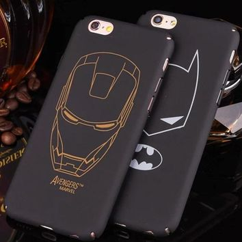 Ultra Thin Marvel Batman Case for Coque iPhone 6 6s 7 8 Plus Star wars Storm trooper Ironman Suprem Man Cover for iPhone 8 case