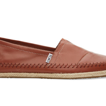 TOMS Cognac Full Grain Leather Men's Classics Brown