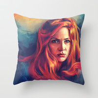 Amy Pond Throw Pillow by Alice X. Zhang