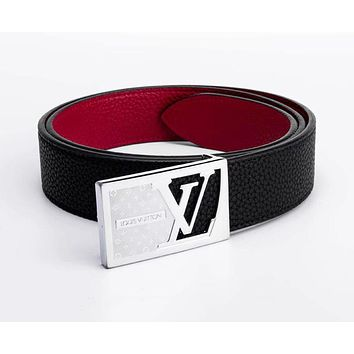 Louis Vuitton LV Fashion Simple Smooth Buckle Leather Belt