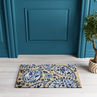 "Blue/White Paisley Tufted Doormat 1'6""X2'6"" - Opalhouse™"