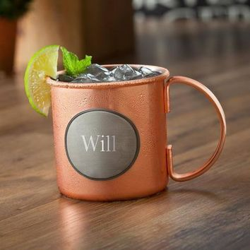 Moscow Mule Mug with Pewter Medallion