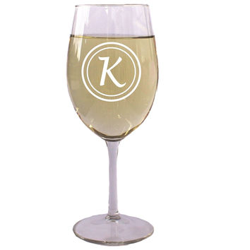 Personalized White or Red Wine Glass 18 Oz - Wedding Party Bridesmaid Mother's Day Housewarming Gifts - Custom Engraved Drinkware Glassware Barware Etched for Free