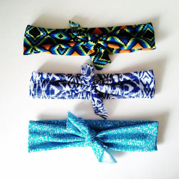 The Top Knot Headband 3 Pack Tribal Pack by SevenWhiteRabbits