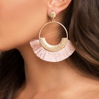 Straight To The Point Earrings - Pink