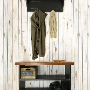 The Braddock Entryway Set - Shoe Storage Bench and Coat Rack with Shelf