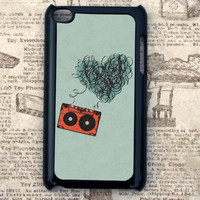 Cassette Tape Heart 4th Generation iPod Touch Case
