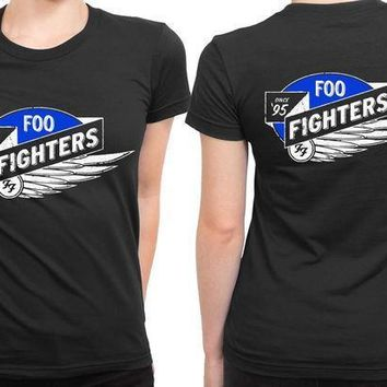 Foo Fighter Logo Wing Since 2 Sided Womens T Shirt