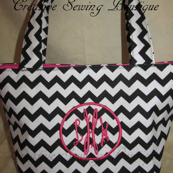 FREE SHIPPING Custom Handmade chevron purse initial monogram your choice of colors and monogram