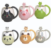 Animal Round Mug & Spoon Set