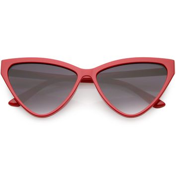 Women's Retro Modern High Tipped Cat Eye Sunglasses C738