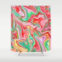 Summer Abstract2 Shower Curtain by LEMAT WORKS
