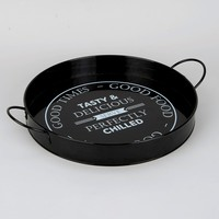 Metal Slogan Serving Tray (35cm x 5cm) - Matalan