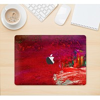 """The Grungy Red Abstract Paint Skin Kit for the 12"""" Apple MacBook"""