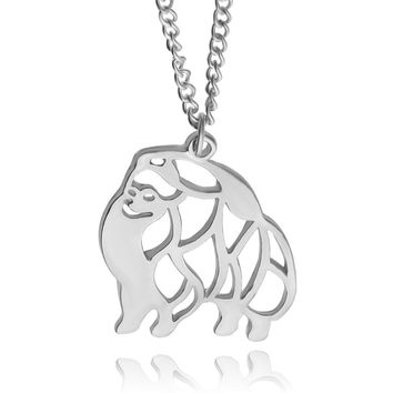 Cute Puppy Dog Necklaces & Pendants Memorial Gift Alaska Dog (Husky) Animal Hollow Pendant Necklaces For Women Fashion Jewelry