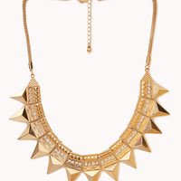 Goddess Spiked Bib Necklace