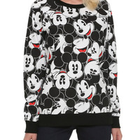 Disney Mickey Mouse Print Girls Pullover Top