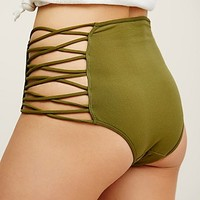 Free People Strappy Side High Waist Undie