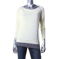 Kut Womens Jersey Striped Casual Top