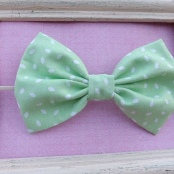 Mint green fabric bow headbands for babies, toddlers, teens, and adults.          ~FABRIC BOW DEPOT~