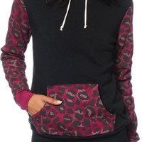 Glamour Kills Cheetah Pocket Hoodie