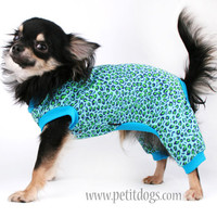 Dog pajamas CUSTOM size leopard spot pjs for small dogs