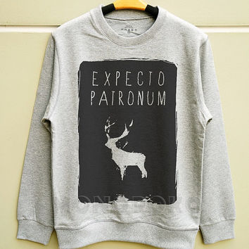 S M L - Expecto Patronum Shirts Harry Potter Sweater Cool Sweatshirt Tee Jumpers Long Sleeve Shirts Sweater Unisex Women TShirts Men TShirts